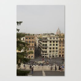 View from the Spanish Steps Canvas Print