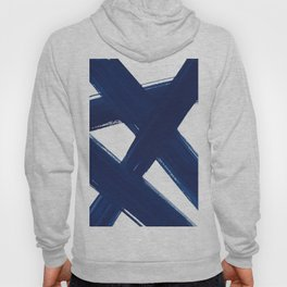 Indigo Abstract Brush Strokes | No. 3 Hoody