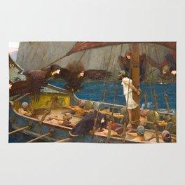 John William Waterhouse - Ulysses and the Sirens, 1891 Rug