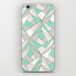 Minty Marbelous iPhone Skin