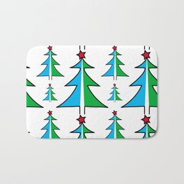 Christmas Tree Pattern Bath Mat