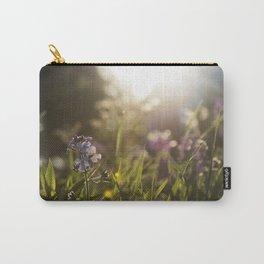 Sunlit Flower Field Carry-All Pouch