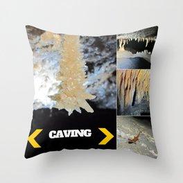 CAVING Throw Pillow