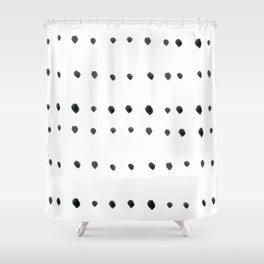 Modern boho dot Shower Curtain