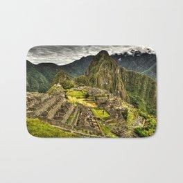 Machu Picchu in Hi-Res HDR landscape photo Bath Mat