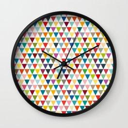 Colorul Triangles Wall Clock