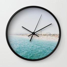 Santa Monica Beach MINT Wall Clock
