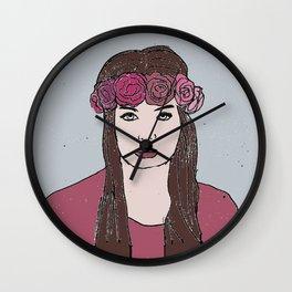rosegirl Wall Clock