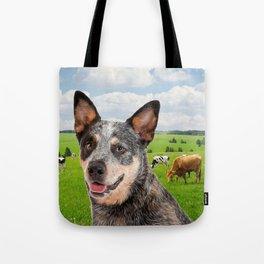 Australian Cattle Dog Blue Tote Bag
