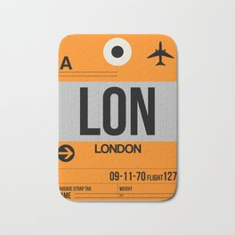 LON London Luggage Tag 1 Bath Mat