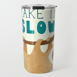 Sloth: Take it Slow Travel Mug