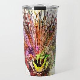 Porcupine Grunge Travel Mug