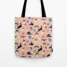 Valentine's Day Candy Hearts Puppy Love - Peach Tote Bag