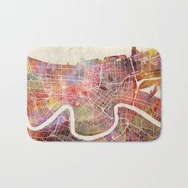 New Orleans map Bath Mat