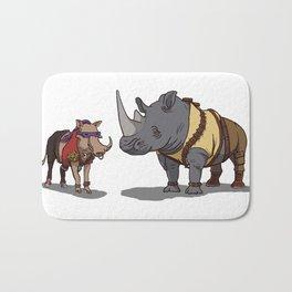 Warthog and Rhino Animal Cosplay Bath Mat