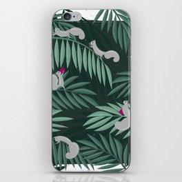 Palm Leaves & Squirrels iPhone Skin