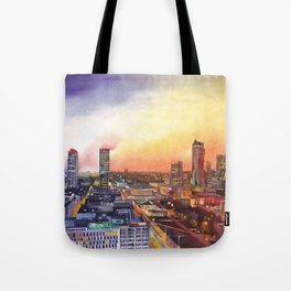 Sunset in Warsaw Tote Bag