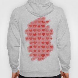 Pink Valentines Love Hearts Hoody