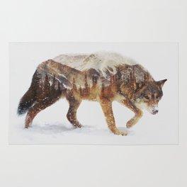 Arctic Wolf Rug