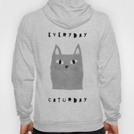 Caturday / poster, cat, art print, pictures, scandinavian, nursery, deco, family, art, animal, petti Hoody
