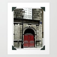 Paris 3 : The Red Door Art Print