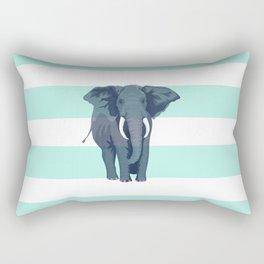 The Green Elephant Rectangular Pillow