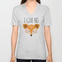 I Give No Fox Unisex V-Neck