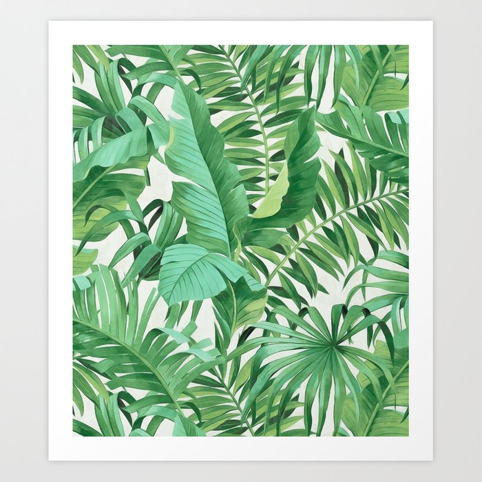 Green Tropical Leaves Iii Art Print By Catyarte Society6 Please contact me if you have any questions. green tropical leaves iii art print by catyarte