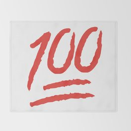 Keep It 100 One Hundred Funny sayings quotes Throw Blanket