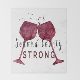 Sonoma County Strong Throw Blanket