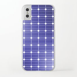 In charge / 3D render of solar panel texture Clear iPhone Case