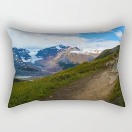 Athabasca & Snowdome Glaciers in Jasper National Park, Canada Rectangular Pillow
