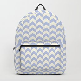 Light Blue Arrow Chevron Pattern Backpack