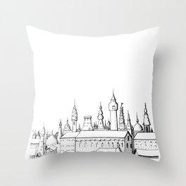 fabulous city . art . black and white Throw Pillow