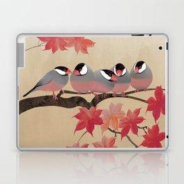 Java Sparrows in Japanese Maple Tree Laptop & iPad Skin