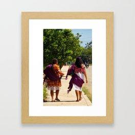 Women of the town Framed Art Print