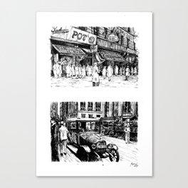 Twenties in Ink Canvas Print