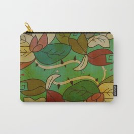 Floral, blood and thorn pattern Carry-All Pouch