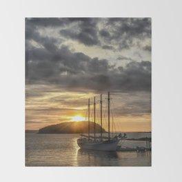 Sunrise Bar Harbor Maine Throw Blanket