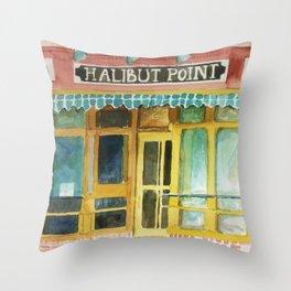 Halibut Point Restaurant Throw Pillow