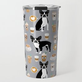 Boston Terrier coffee dog breed gifts pupuccino dog lover Boston terriers pure breed Travel Mug