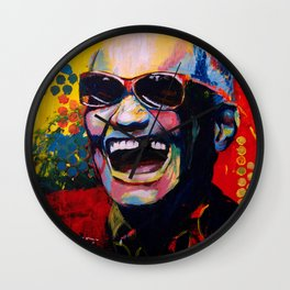 Portrait of Ray Charles Wall Clock
