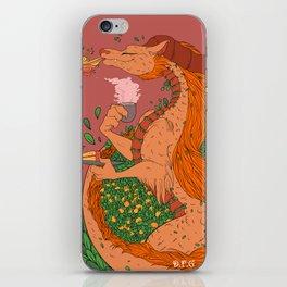 Orange Tea Dragon iPhone Skin