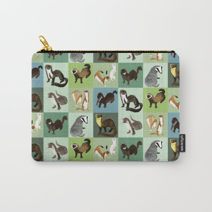 Best Nine :  Mustelids of Spain Carry-All Pouch