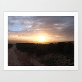 Sunrise on Safari Art Print