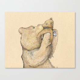 Bear Smooches Canvas Print