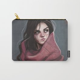 Wild Girl in the cold night Carry-All Pouch