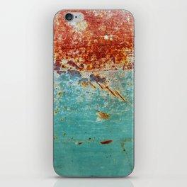 Teal Rust iPhone Skin