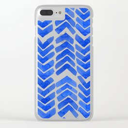 Chevron ink Clear iPhone Case