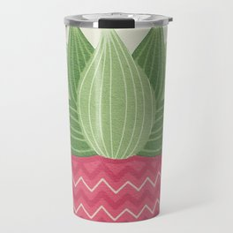Watercolor Cactus Painting Travel Mug